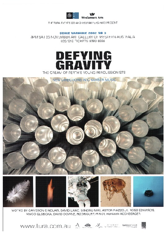 Defying gravity, the cream of Perth's young percussionists